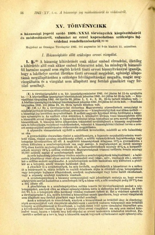 Legea XV, 8 August 1941