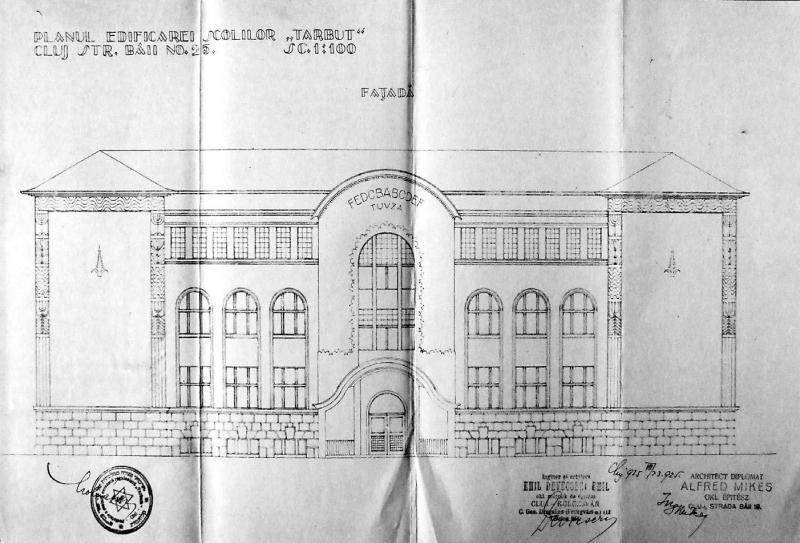 Planul Liceului Tarbut din Cluj