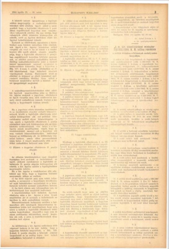 Decretul-lege nr. 108.500/1944 K.M. al Ministerului Aprovizionării Publice