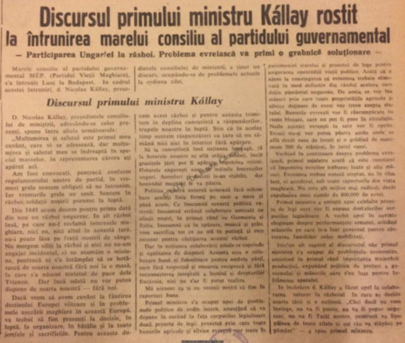Tribuna Ardealului, 22 Aprilie 1942