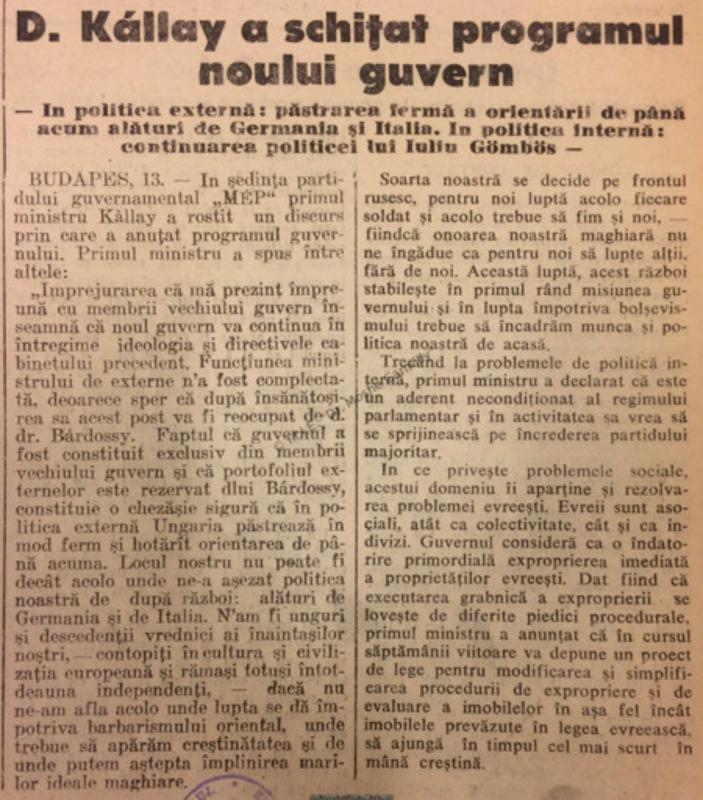 Tribuna Ardealului, 13 Martie 1942